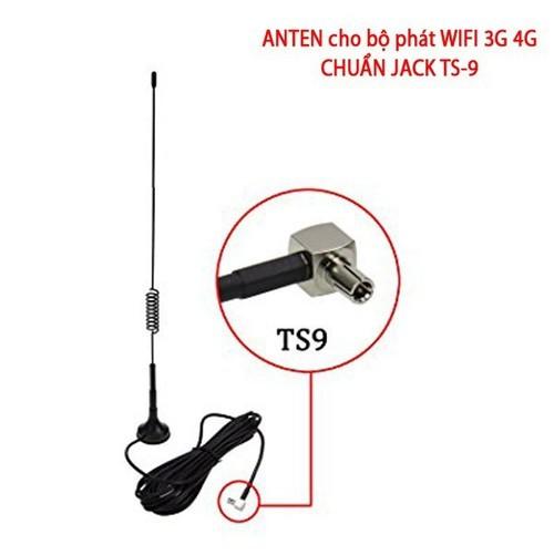 Anten 3G/4G/GPS/GSM 12dBi, đầu cắm chuẩn TS9, hỗ trợ băng tần 700-2600Mhz, cáp dài 3m