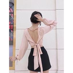 Áo cột nơ lưng