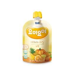 Combo 3 bịch nước ép trái cây hữu cơ cho bé nhập khẩu Hàn Quốc Yummy Yummy màu Vàng 100ml