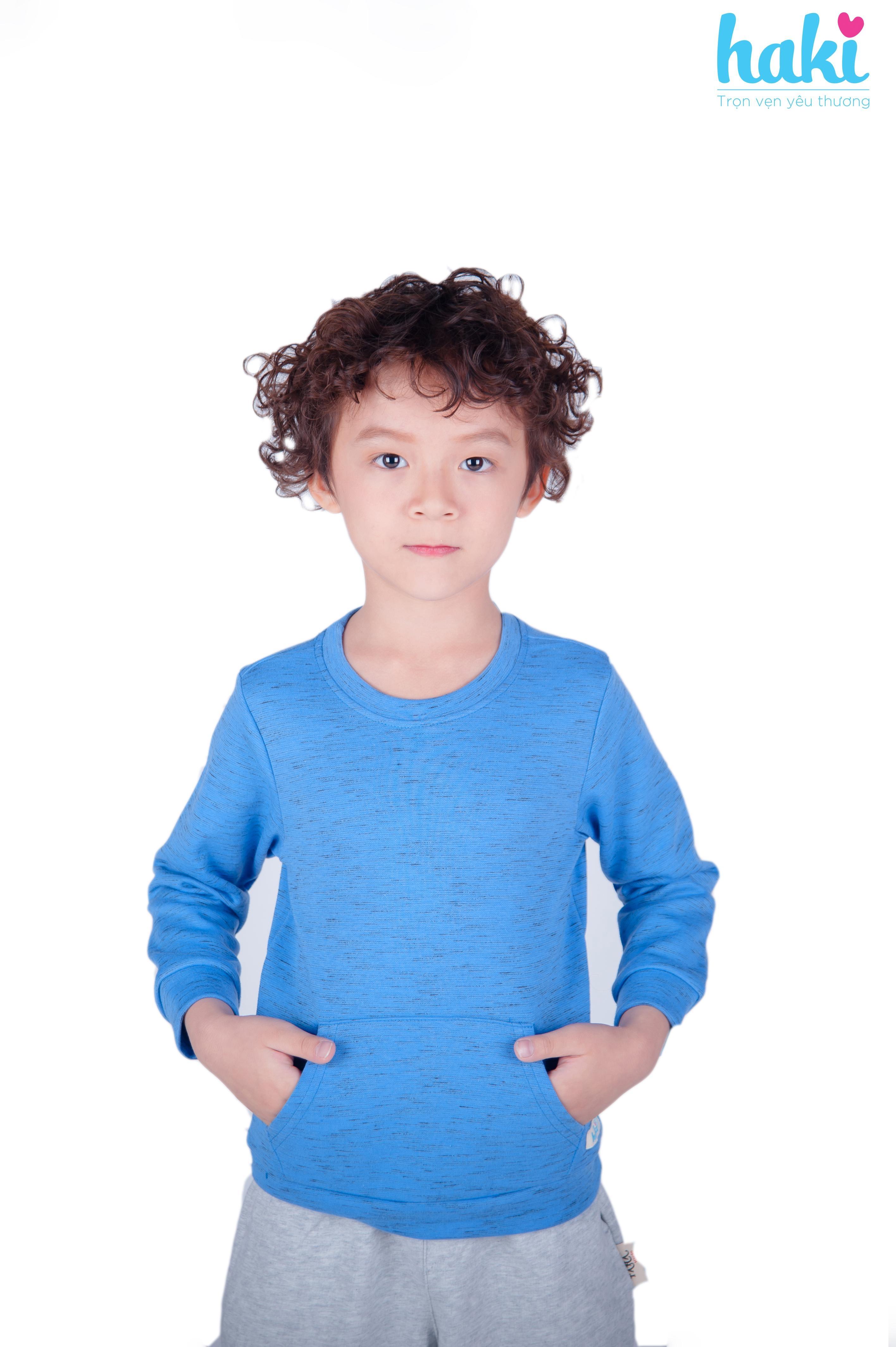 Áo nỉ bé trai cổ tròn size từ 2-3 tuổi