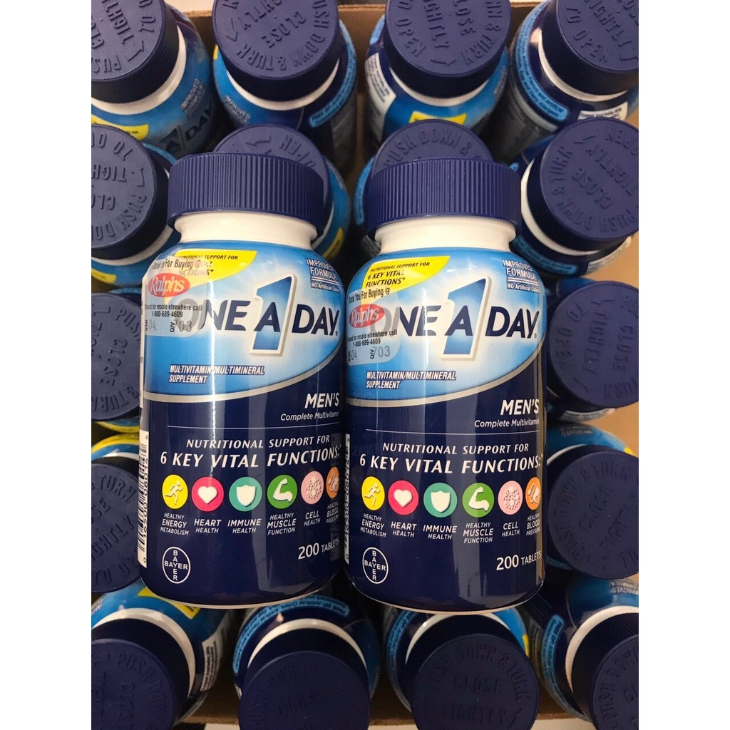 Vitamin One A Day dành cho nam dưới 50 tuổi 200 viên của Mỹ - GVP - TPCN