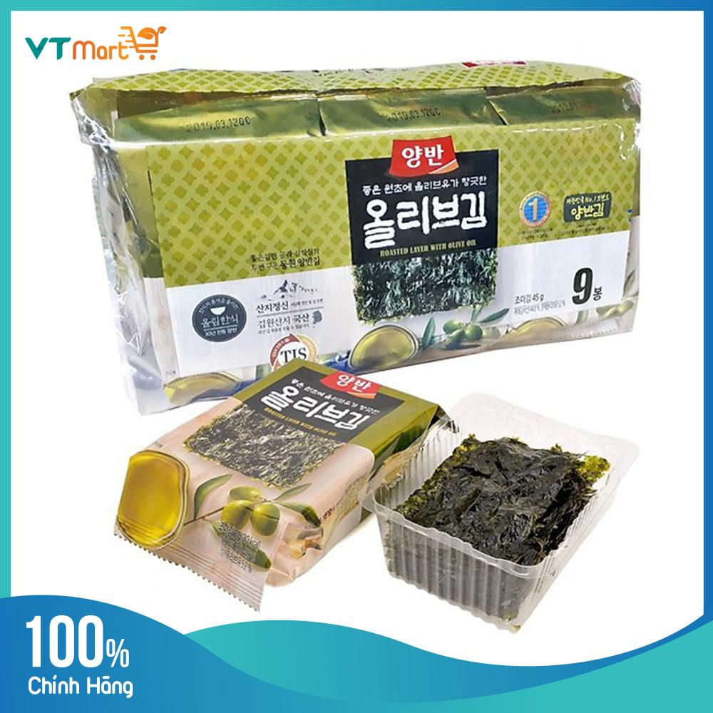 Rong biển ăn liền Dongwon lốc 9 gói - combo 2 lốc
