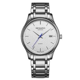 Đồng hồ nam SENARO 66018G.AWA Leather Elegance Enhanced Men's Watch 41mm - Thương hiệu Nhật Bản chính hãng