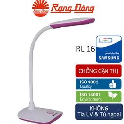 Đèn bàn (đèn học) chống cận LED 5W Rạng Đông, Vỏ Hồng/Trắng (ánh sáng Vàng)