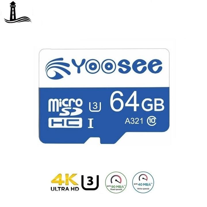 Thẻ nhớ microSD Yoosee 64GB U3 Class10 Chuyên Dụng Cho Camera Wifi và Điện Thoại