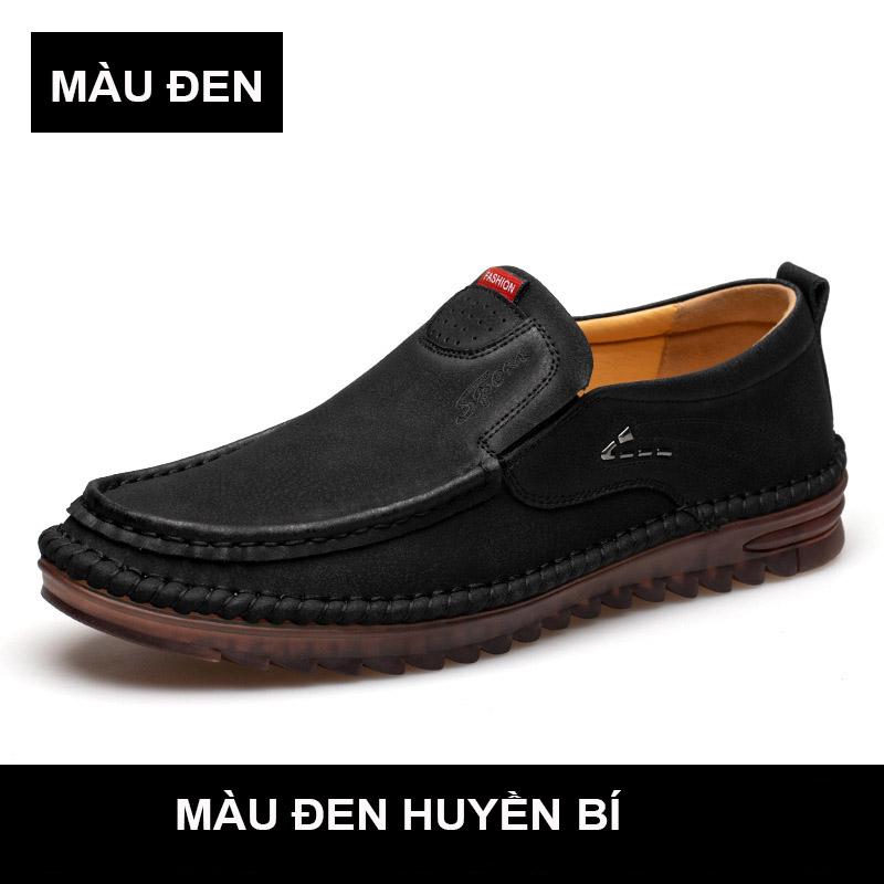 Giày lười giày giày da bò giày da thật nam giày lái xe giày nam da mềm kiểu mới mã T26016