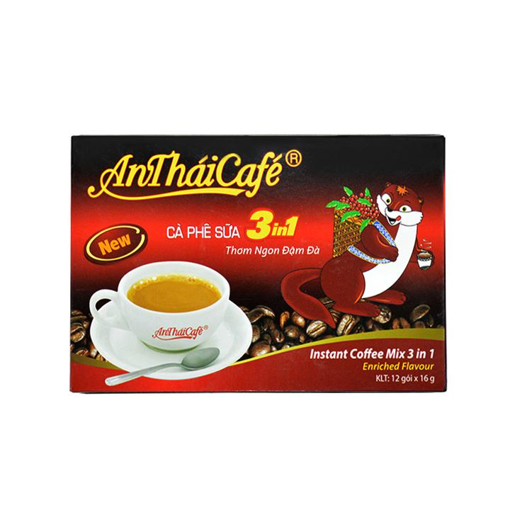 Cà Phê Sữa 3 trong 1 An Thái Mới (Hộp 12 gói) - AnTháiCafé