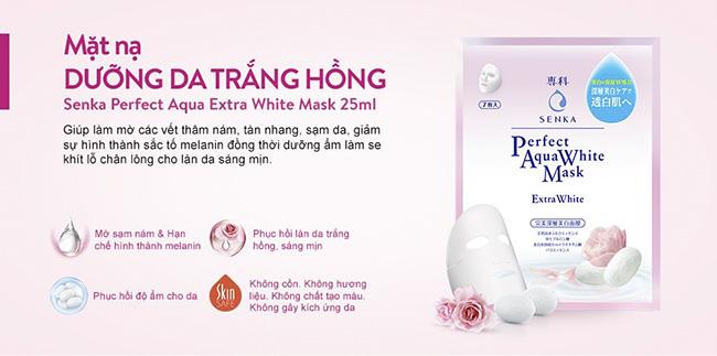 Mặt Nạ Dưỡng Da Trắng Hồng Senka Perfect Aqua White Mask Extra White 25ml -  P245584   Sàn thương mại điện tử của khách hàng Viettelpost