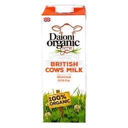 Sữa Tươi Hữu Cơ Tách Béo 0.1% Béo Daioni Organic 1L