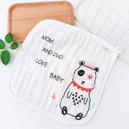 COMBO 5 khăn mặt xô sợi tre 6 lớp êm ái cute cho bé