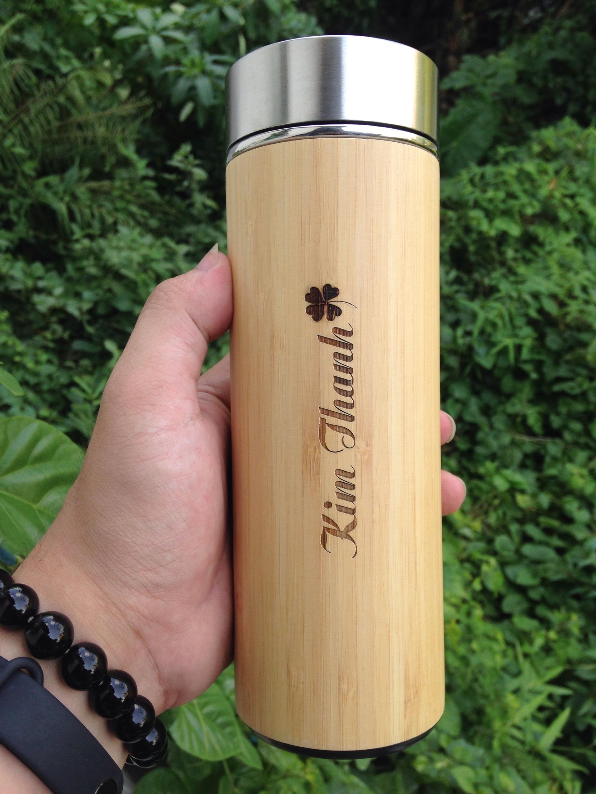Bình Giữ Nhiệt vỏ tre Bamboo Lock + TẶNG KÈM TÚI ĐAN TIỆN DỤNG ...