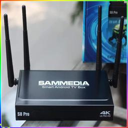 Android Tivi Box Sammedia s8 Pro 4K Ultra HD RAM 2GB kết nối Bluetooth