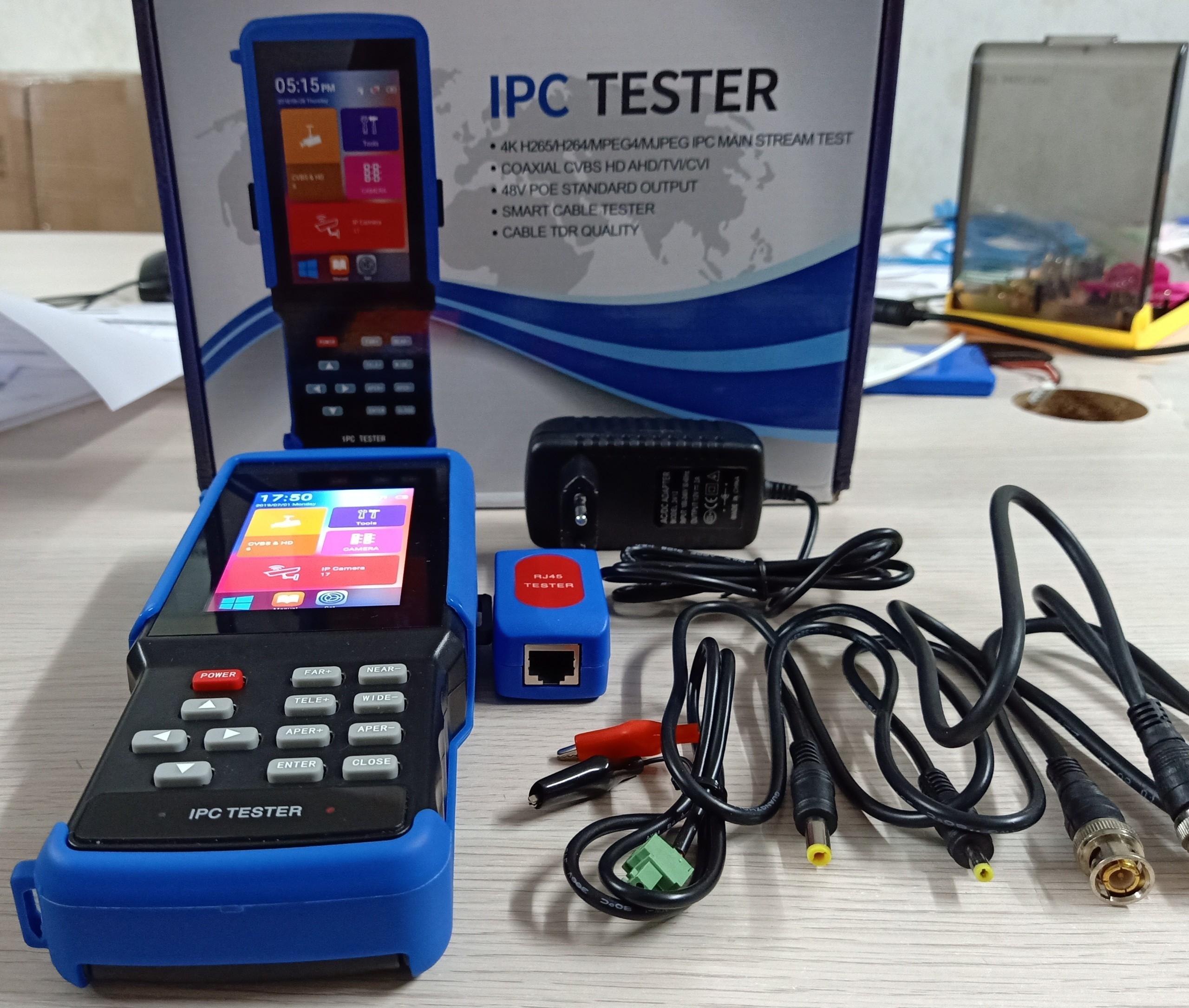 Máy Test camera quan sát IP 8.0 MP-4K-H265, AHD -TVI-CVI 8.0MP màn hính 4.3″ cảm ứng, chất lượng cao. BH 12 tháng