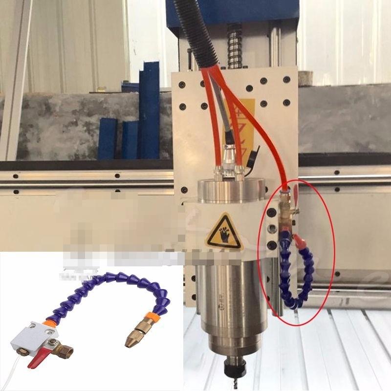 Vòi tưới nguội phun sương làm mát cho máy CNC, lưỡi cắt nhôm