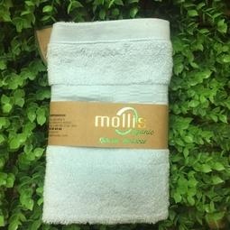 Khăn hữu cơ Mollis Kt 30x50cm - màu xanh