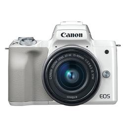 Máy ảnh Canon EOS M50 kit 15-45mm IS STM Trắng (Hàng chính hãng) - Tặng thẻ 16GB + Túi