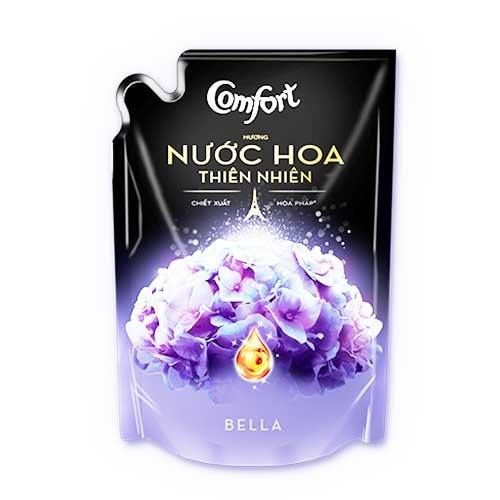 Nước xả vải Comfort hương nước hoa thiên nhiên Bella túi 1,6L