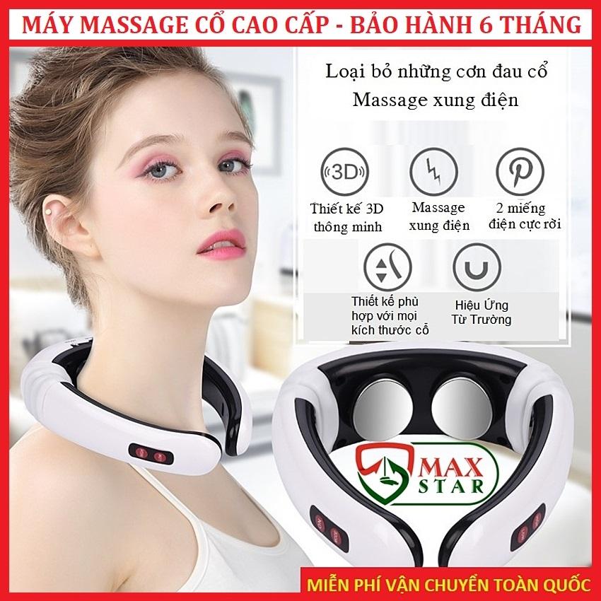 Máy massage cổ vai gáy vật lý trị liệu CAO CẤP LOẠI 1 Massage cổ thông minh ✅ (CSSK-34E3-61)
