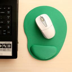 Miếng lót chuột EVA PU có đệm êm giảm mỏi tay hình oval nhỏ gọn, tiết kiệm không gian bàn làm việc - màu xanh lá MLC36