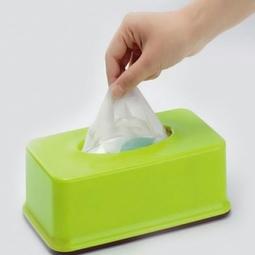 Hộp đựng giấy ăn màu xanh Nhật Bản
