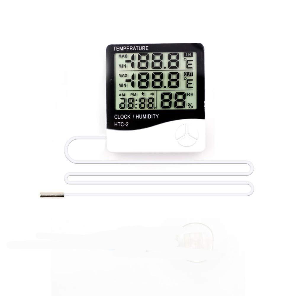 Đồng Hồ LED Để Bàn Có Dây Cảm Biến Trong Ngoài – Đồng Hồ LED Nhiều Chức Năng HTC2 – Đồng Hồ Điện Tử Để Bàn