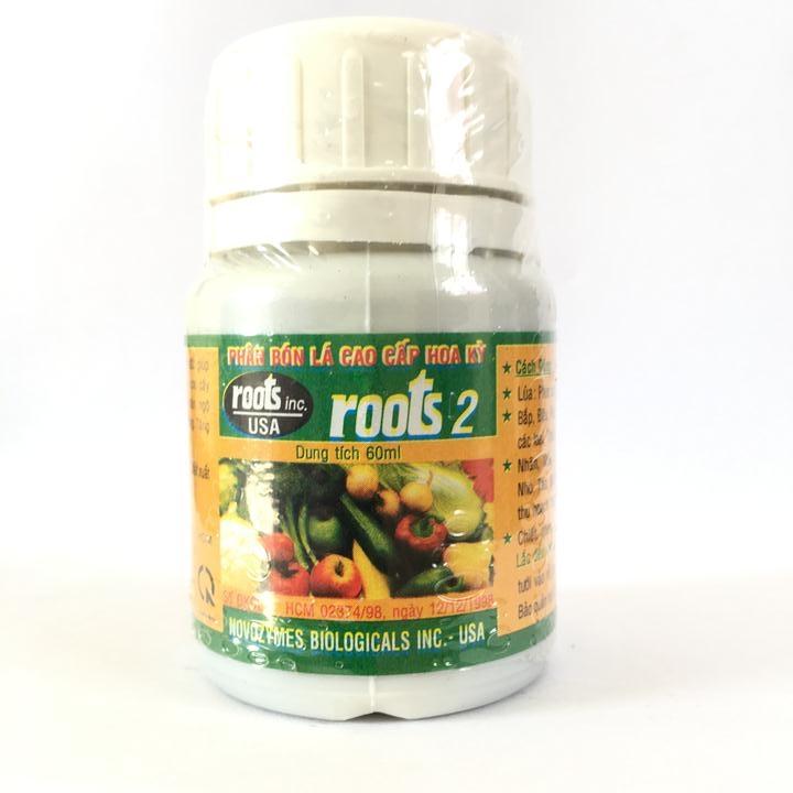Phân bón lá cao cấp kích rễ Roots 2 nguyên liệu nhập USA chai 60ml