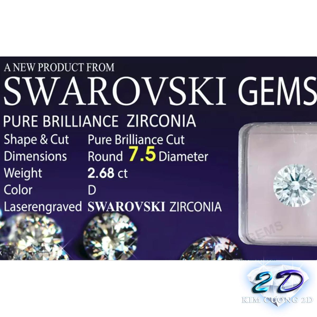 Kim Cương Nhân Tạo 7.5LY - Swarovski Gems (Cộng hòa Áo)