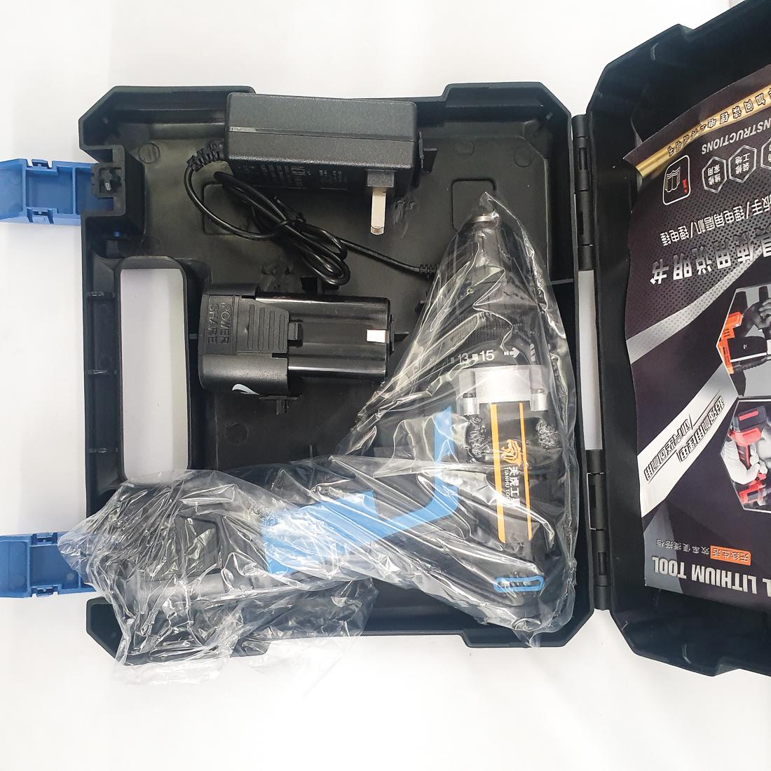 Máy Khoan Dùng Pin Tianhu Tools Máy Khoan Máy Khoan Bắn Vit Máy Khoan Cầm Tay Máy Khoan Sửa Chữa Vặn Vít Có Đảo Chiều (Kèm Pin Dự Phòng) - Màu xanh dương 18V