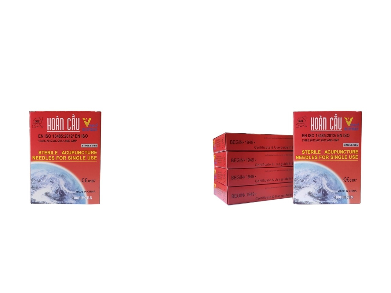 Combo 3 hộp Kim Châm Cứu Hoàn Cầu - HuanQiu Dạng Vỉ nhôm (100 Cái/Hộp)