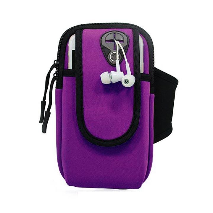 Túi đeo tay đựng điện thoại chạy thể dục đa năng màu tím TDT01