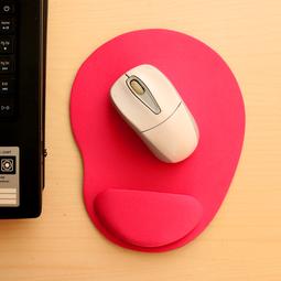 Miếng lót chuột EVA PU có đệm êm giảm mỏi tay hình oval nhỏ gọn, tiết kiệm không gian bàn làm việc - màu hồng MLC33