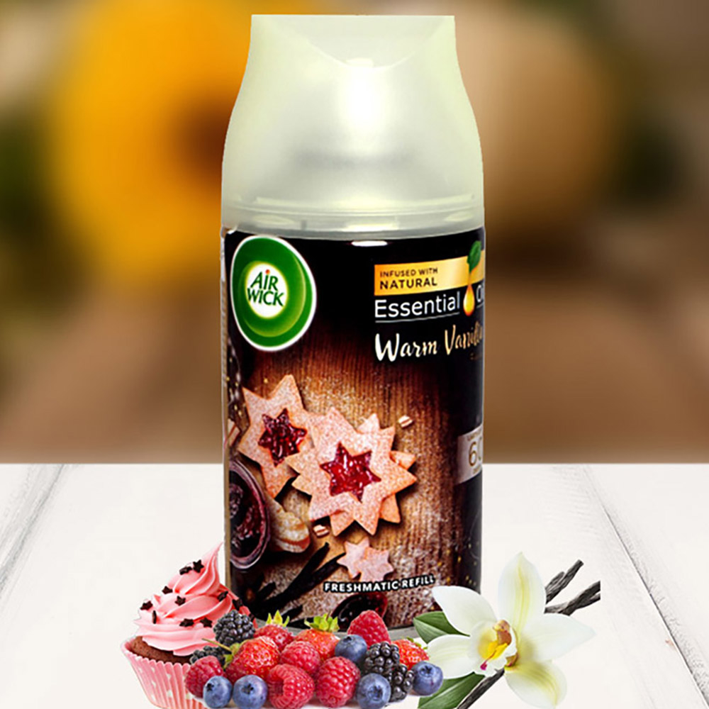 Bình xịt tinh dầu thiên nhiên Air Wick Warm Vanilla 250ml QT09428 - hương vani