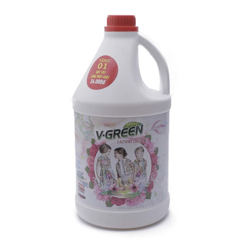 Nước giặt hữu cơ V-Green - hương Sweet lovely - 3.5L