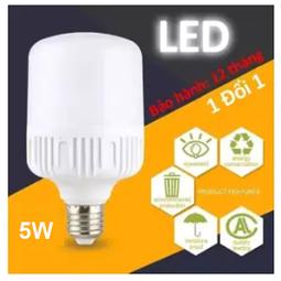 Bóng đèn LED 5W Siêu Sáng Tiết Kiệm Điện - Đuôi Vặn E27