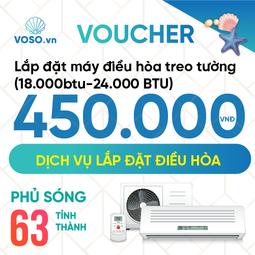 Voucher Lắp đặt máy điều hòa treo tường 18.000BTU-24.000BTU