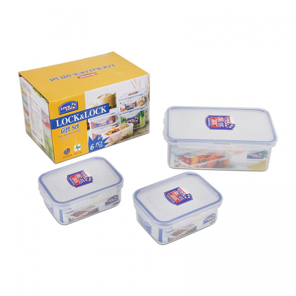 [Lock&Lock] Bộ  3 hộp nhựa CLassic1 Hộp HPL817(1 lít), 2 Hộp HPL806 (350ml)