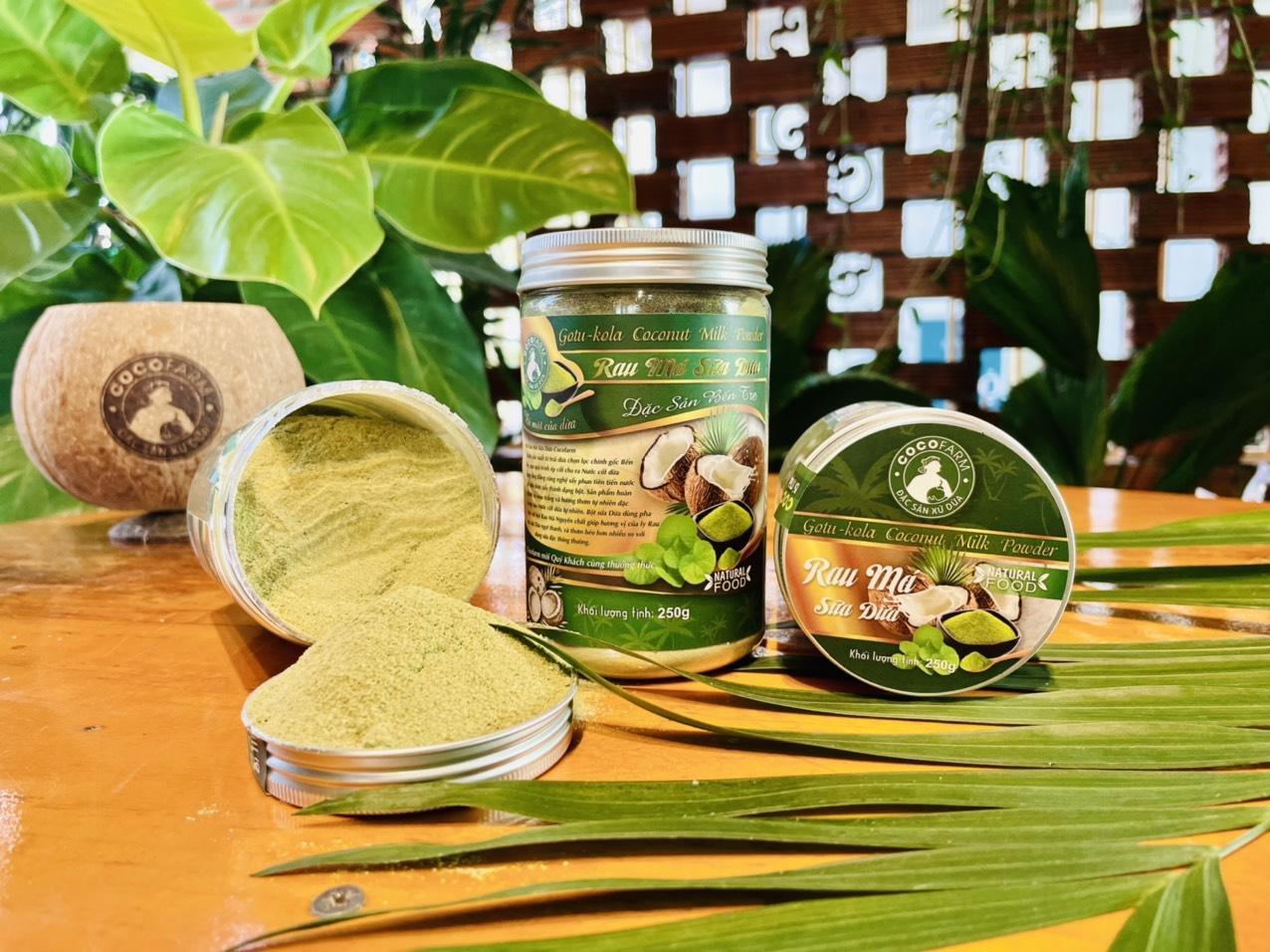 Bột Rau Má Sữa Dừa Cocofarm 200g  - Giải nhiệt ngày nắng