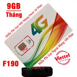 Sim 4G Viettel Miễn Phí gọi nội mạng dưới 10 phút Tặng 9GB Tháng