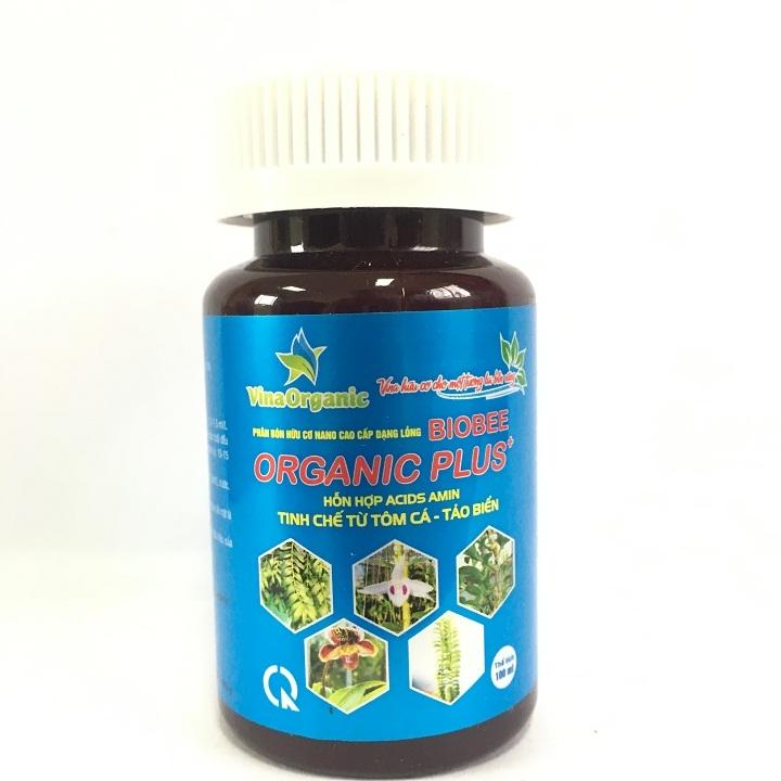 Phân bón hữu cơ Nano Amino Acids cao cấp BIOBEE ORGANIC PLUS -  hỗn hợp Acids Amin tinh chế từ tôm cá, tảo biển 100ml