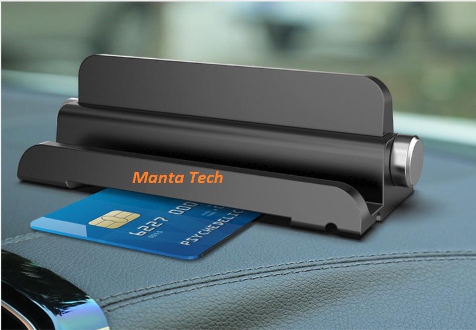 Thẻ đỗ xe hiển thị số điên thoại và gắn điện thoại