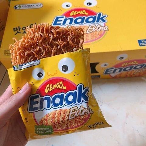 [COMBO 5 GÓI] Mỳ tôm trẻ em Enaak Indonesia Vàng