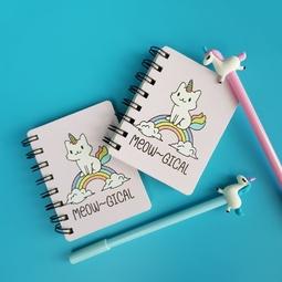 Sổ ghi chú, sổ lò xo Mèo kì lân unicorn giấy kẻ dòng