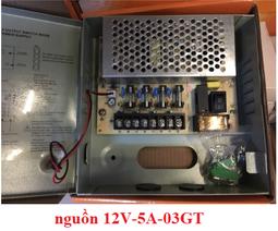 Hộp cấp nguồn cho camera 12V-5A - Có cầu chì bảo vệ