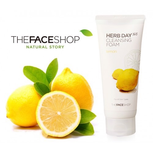 Set sữa rửa mặt The Face Shop Herb Day 365 Cleansing Foam