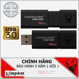 USB Kingston DT100G3 USB 3.0 16GB - Bảo hành 60 tháng chính hãng (FPT/SPC)