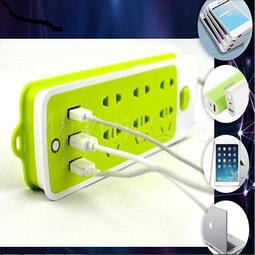Ổ điện USB 16 lỗ xanh lá
