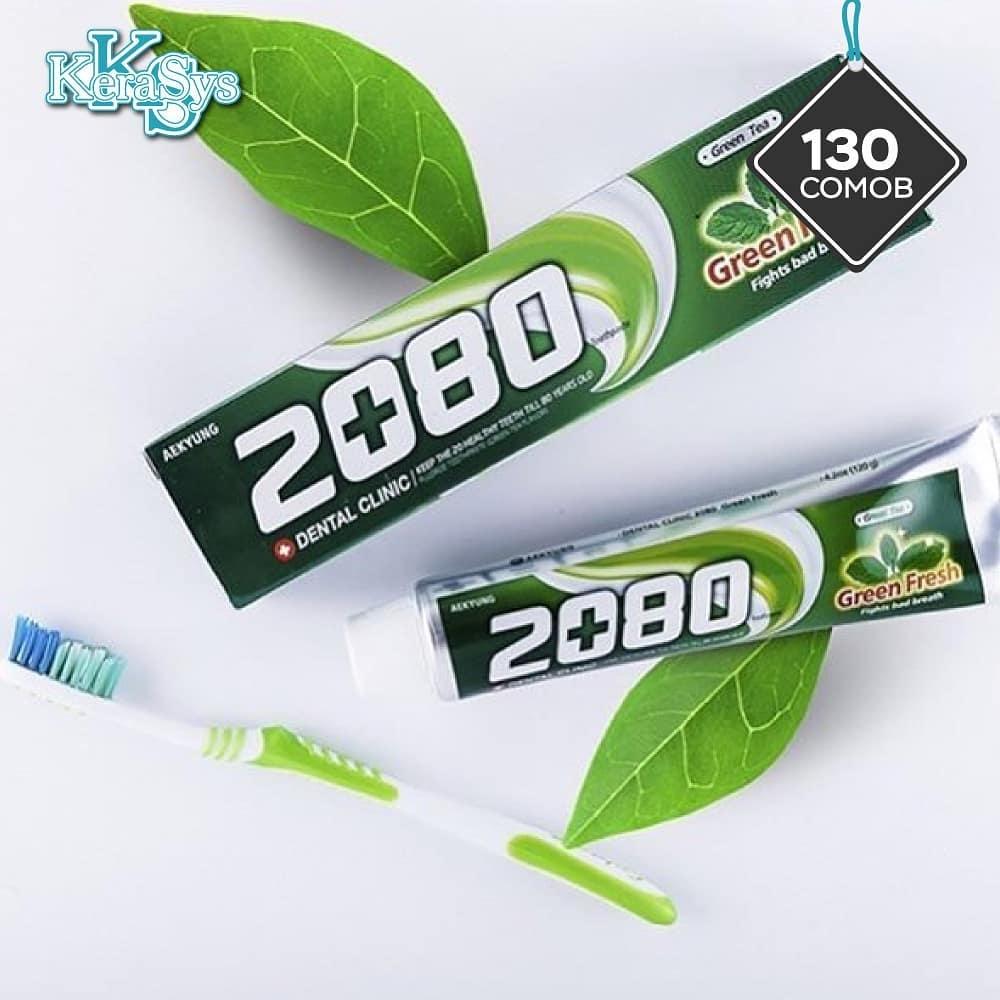 Kem đánh răng giúp hơi thở thơm mát 2080 Green Fresh Hàn Quốc 120g