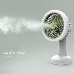 Quạt Phun Sương mini tích điện 3 tốc độ gió để bàn