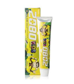 Kem đánh răng trẻ em ngừa sâu răng 2080 Kids Hàn Quốc - Hương chuối