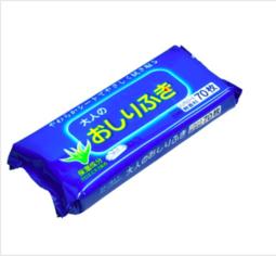 Hàng Nhật chính hãng - Gói 70 tờ giấy ướt cho người lớn hương bạc hà và hương cam